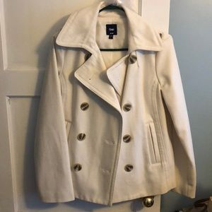 SOLD Gap Ivory Pea Coat